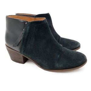 Madewell Leather Cait Side Zip Heel Ankle Boots